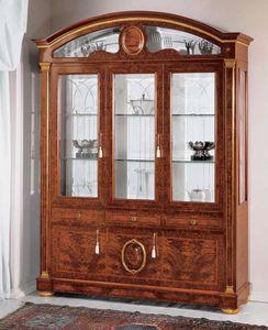 IMPERO / Display cabinet with 3 doors B, Vitrina de fresno con puertas de cristal, de estilo clásico