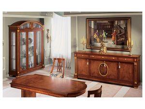IMPERO / Display cabinet with 3 doors, Vitrina hecha de madera de fresno artesanal
