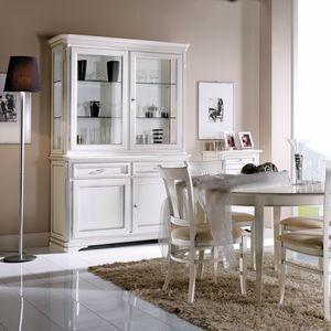 La Maison MAISON608T, Gabinete de cristal de estilo clásico elegante