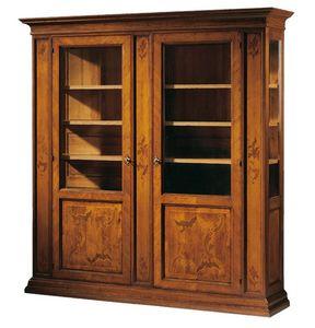 Morandi RA.0600, Vitrina en madera de nogal y cerezo, embutido, hoteles