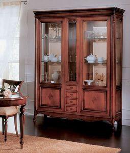 Opera vitrina, Vitrina de estilo clásico y lujoso, para sala de estar