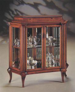 Oxford Art.513 Vitrina con cajón, Vitrina con cristales de tierra y el espejo de nuevo