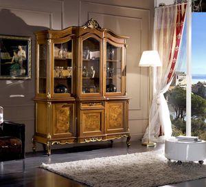 Regency armario 3 puertas, Vitrina de estilo clásico
