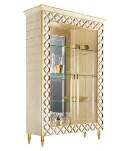 SIPARIO Vitrina 2, Vitrina de estilo clásico con decoraciones doradas