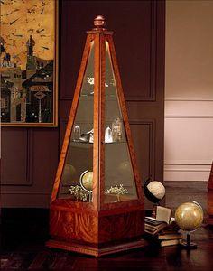 V568 Obelisco, Vitrina Pirámide, de madera maciza, de la sala de estar
