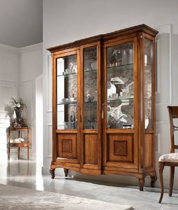 Vitrina 2 puertas embutido, Escaparate de estilo clásico