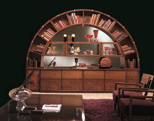 VL13 Arco, Gabinete Biblioteca pantalla, clásico, con incrustaciones