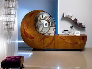 VL18 Chiocciola, Vitrina, estante para libros, aparador, soporte de TV, sala de estar
