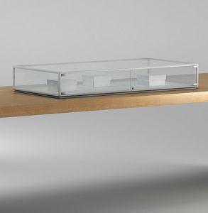 ALLdesign plus 5/TP, Vitrina elegante para mostradores de tienda, con cerradura