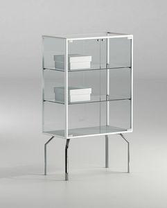 ALLdesign plus 71/12P, Vitrina pequeña, con estantes de cristal