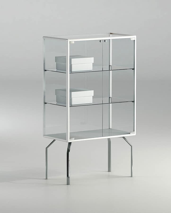 Vitrina peque a con estantes de cristal idfdesign - Vitrinas pequenas ...