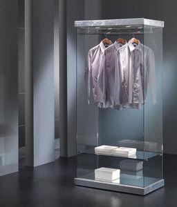 Black&White 9/SA, El escaparate de la exposición de ropa, estructura de cristal, para las tiendas