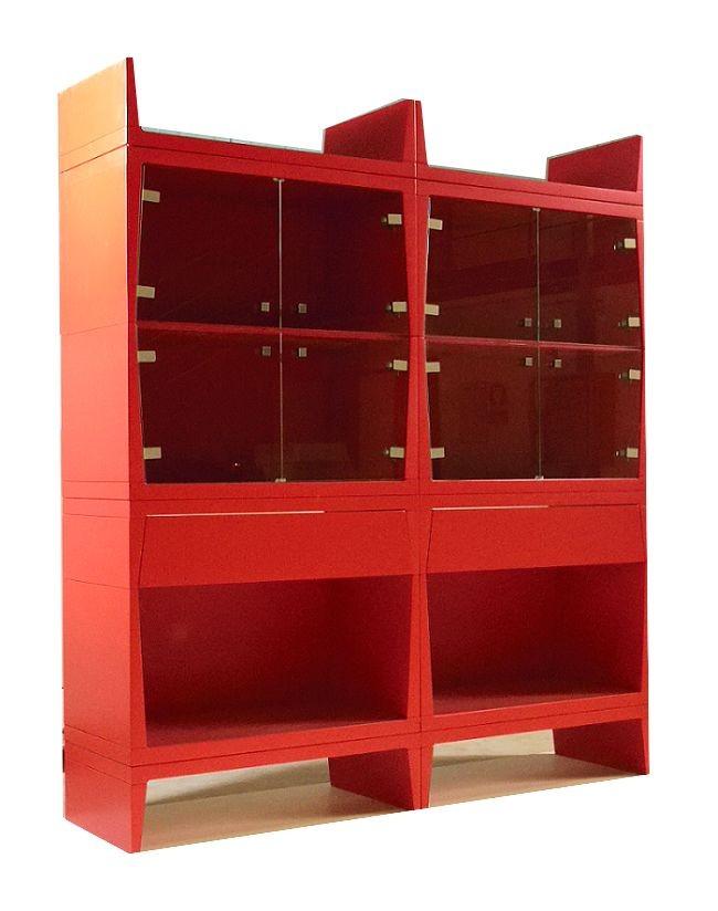 Vitrinas modernas rojas adecuados para comedor | IDFdesign