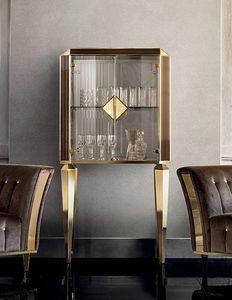 DIAMANTE pequeño armario con puertas de vidrio, Sala de estar con puertas de vidrio