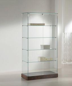 Laminato 130/CC, Vitrina con estantes de vidrio.