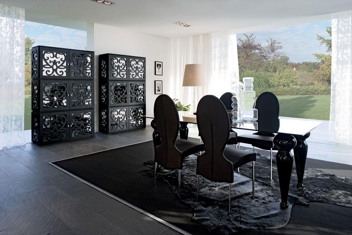 PARIS display cabinet, Escaparate en laminado perforada y el vidrio, acaba con SW
