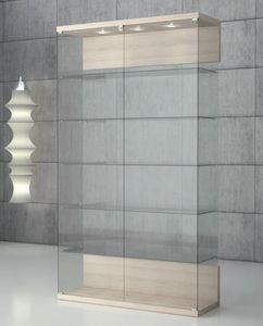 Quadratum VE/120, Vitrina en vidrio templado, con cierre.