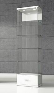 Quadratum VE/60C, Vitrina con base con cajón.