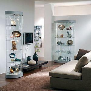 Top Line 9 mod.9, Los expositores, vitrinas de vidrio, base de espejo, para las tiendas