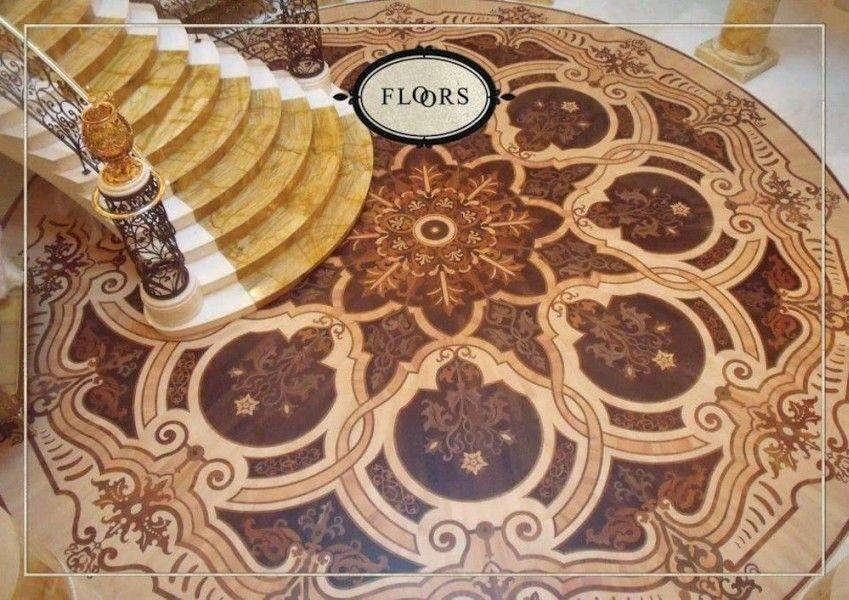 suelos de madera, Suelo de madera con incrustaciones de prestigio, ideal para ambientes de estilo clásico