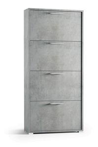 Art. 885 Wall, Estante de zapatos con espacio para guardar las puertas plegables.