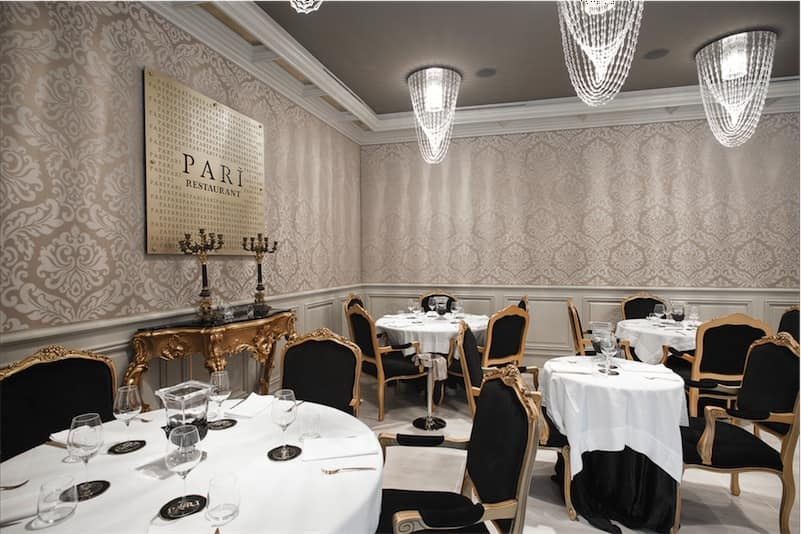 Restaurante Parì Luxury Hall